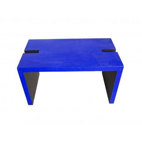 Banc bleu