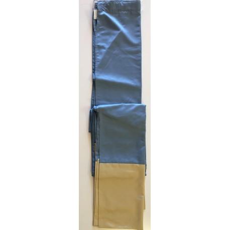 Rideau bleu et doré