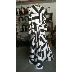 Robe longue rayée