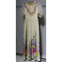 Robe longue imprimée fleur