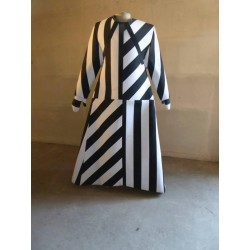 Robe rayée noir & blanc