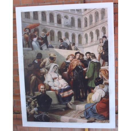 """Tableau """" Rafael en Pope"""""""