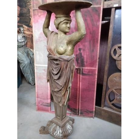 Statue servante à plateau