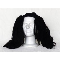 Perruque cheveux longs noirs