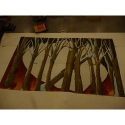 """toile ajourée """"forêt"""""""