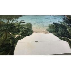 Toile peinte - arche forêt 1