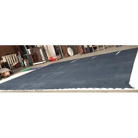 toile drap bleue