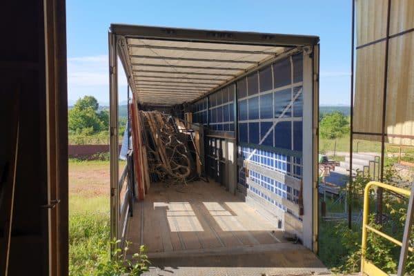 Déchargement du camion